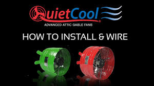 quiet cool attic fan how to install quietcool attic gable fans on vimeo