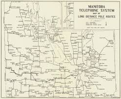 Distance Map Manitoba Telephone System Map Of Long Distance Pole Routes U2026 Flickr