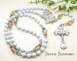 rosary of the seven sorrows seven sorrows rosary etsy