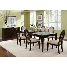 dining room tables value city furniture cosmo table and 6 chairs merlot