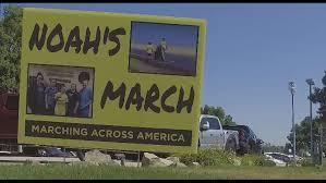 noah feel better 9news 11 year walks across america to send a message