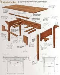 arts and crafts desk plans u2022 woodarchivist