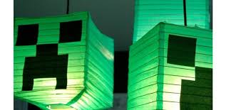 minecraft party decorations creeper lanterns minecraft party decorations click for