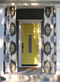 Blue And Yellow Curtains Prints Yellow And Gray Drapes Design Ideas