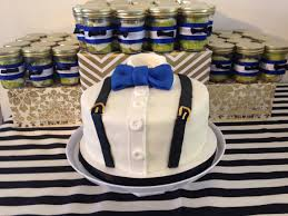 gentleman baby shower gentleman baby shower cake with matching cake jars made