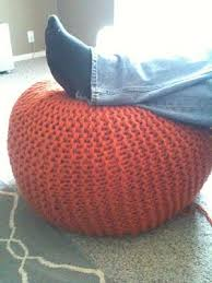 Knit Ottoman Pouf How To Make A Knitted Pouf Ottoman Home Ec Flunkee Great