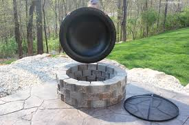Large Fire Pit Ring by Garden Using Some Models Fire Pit Covers Design Of Fire Pit