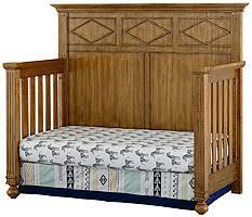 Timber Creek Convertible Crib Bassettbaby Timber Creek In Crib Heirloom Oak Baby Bedding Sets