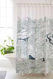 Vintage Mermaid Shower Curtain - kess inhouse mandie manzano under the sea mermaids shower curtain