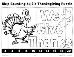 6 free printable thanksgiving skip counting worksheets skip