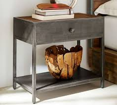 Metal Bedside Table Big Daddy U0027s Antiques Metal Bedside Table Pottery Barn