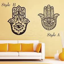 Arabian Home Decor Colorful Design House Decor Vinyl Fatima Hamsa Wall