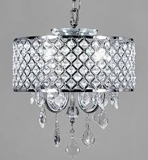 crystal l shade chandelier new galaxy lighting 4 light chrome round metal shade crystal