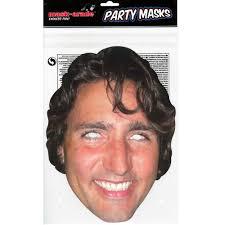 trudeau paper mask the party bazaar