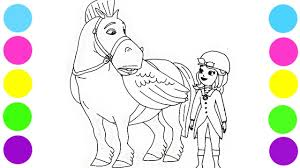 sofia the first memorable moments flying horse coloring pages for
