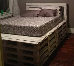 Headboard Made From Pallets Queen Bed Frame Pallets Frame Decorations