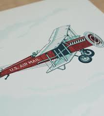 air mail airplane art print art prints u0026 posters fickle hill