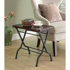 Black Accent Table Cherry Charcoal Black Metal Folding Accent Table Free Shipping
