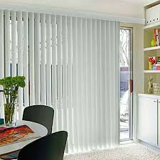 vertical blinds kit white light filtering wide window patio