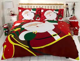 Double Christmas Duvet Christmas Duvet Cover Set Bedding Santa Rudolph 100 Cotton