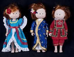 le chat noir boutique madeline doll dress up lot of 3 dolls