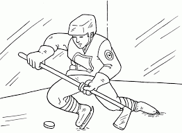 get this free hockey coloring pages to print 16629