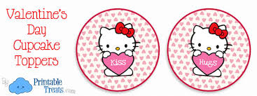 hello cupcake toppers hello valentines day cupcake toppers printable treats