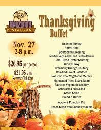 thanksgiving buffet pine casino hotel