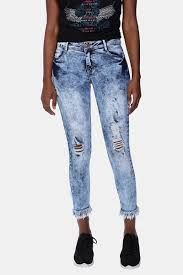 ladies jeans ripped u0026 high waisted mrp clothing