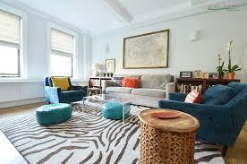 Leopard Print Rug Living Room Before U0026 After A Colorful Upper West Side Co Op Nicole Lanteri