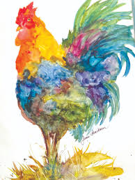 painting the year of the rooster for kids with janis bunchman