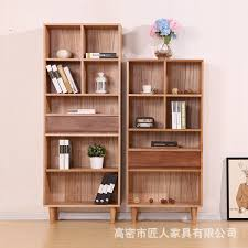 Solid Wood Bookcase Nordic Simple White Oak Pure Solid Wood Bookcase Bookshelves Open