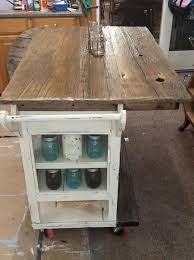rustic kitchen island plans diy barnwood top rustic kitchen island hometalk