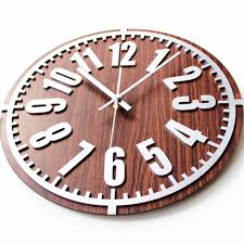 3d digital vintage metal texture wall clock european simple design
