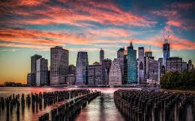 Hd New York City Wallpaper Wallpapersafari by Photo Collection Manhattan Skyline Wallpaper 1280x800