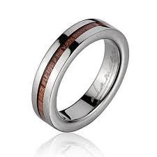 titanium wedding bands kina titanium wedding band with genuine hawaiian koa wood inlay
