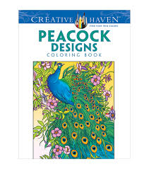 peacock designs creative haven coloring books joann