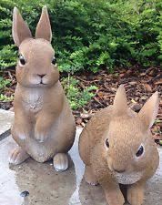 plastic resin rabbits garden ornaments ebay