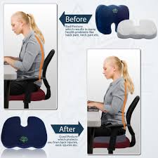 Back Pain Chair Cushion Amazon Com Office Chair Seat Cushion For Sciatica Relief
