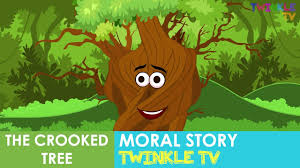 the crooked tree moral story in engish twinkle tv stories