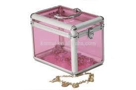 Box Makeup acrylic box lock handle acrylic cosmetic and transparent