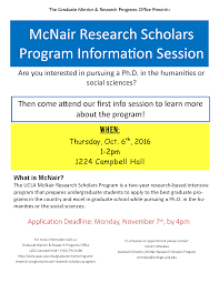 mcnair research scholars program information session ucla