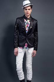 european style men suit slim fit glitter single button