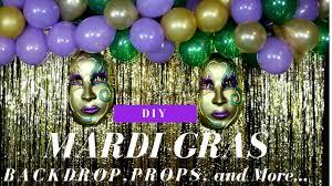 How To Make Mardi Gras Decorations Mardi Gras Diy Decorations Backdrop Masks U0026 Hurricane Cocktail