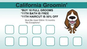 rewards card culver city dog groomer california groomin u0027