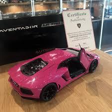 car lamborghini pink autoart 1 18 lamborghini aventador lp700 4 pink black wheels