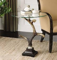 ivory accent table stag horn accent table western cocktail and end tables distinctive