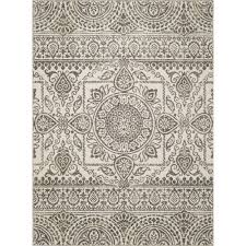 Concord Global Area Rugs Concord Global Trading New Casa Aubosson Grey 7 Ft 10 In X 10 Ft