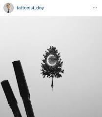 crescent moon in tree idea tattoos crescents