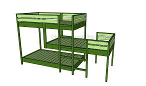 Woodworking Plans Bunk Beds by Triple Bunk Bed Plans Sanblasferry